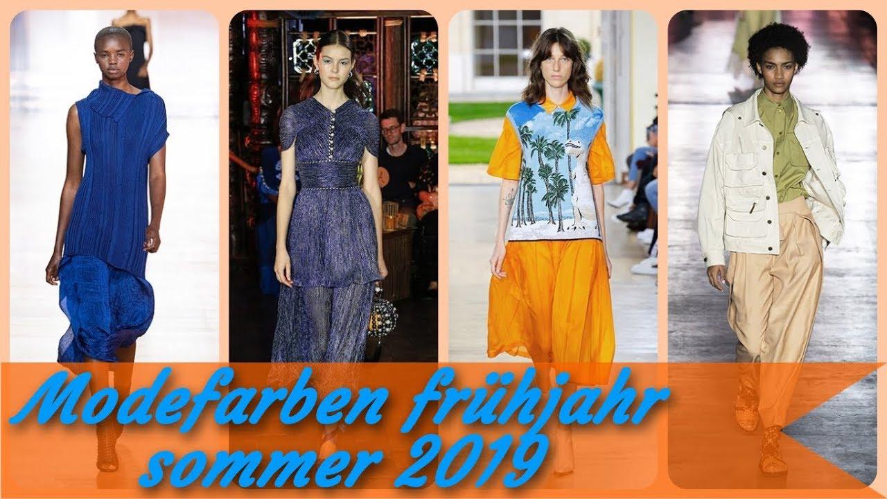 Modefarben Frühjahr Sommer 2019 Youtube