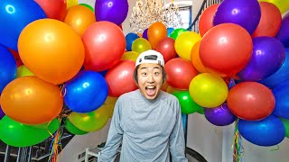 I FILLED THE TEAM RAR HOUSE WITH BALLOONS!!