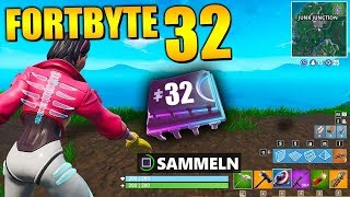 Fortnite Fortbyte 32 🐱 Kyo Backbling | All Fortbyte Locations Season 9 Utopia Skin Deutsch