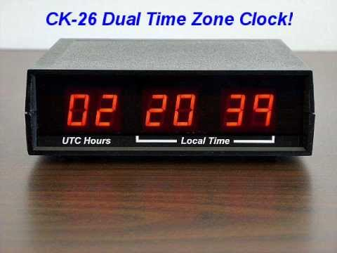 Dual Time Zone Desk Clock Electronics Usa