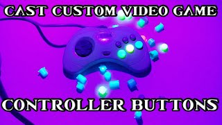 How to make Custom Video Game Controller Buttons! Nintendo Switch, Sega Saturn, PS4, Xbox, Gamecube