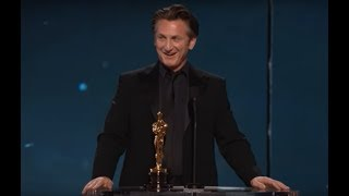 "Sean Penn winning Best Actor for ""Milk"""