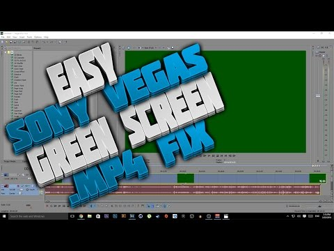 Sony Vegas Pro 13 .MP4 Green Screen Fix (works With All Sony Vegas)