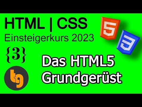 HTML5 Grundgerüst Erstellen Mit Dem Editor Atom – HTML 5 | CSS 3 Grundlagen Tutorial 2020