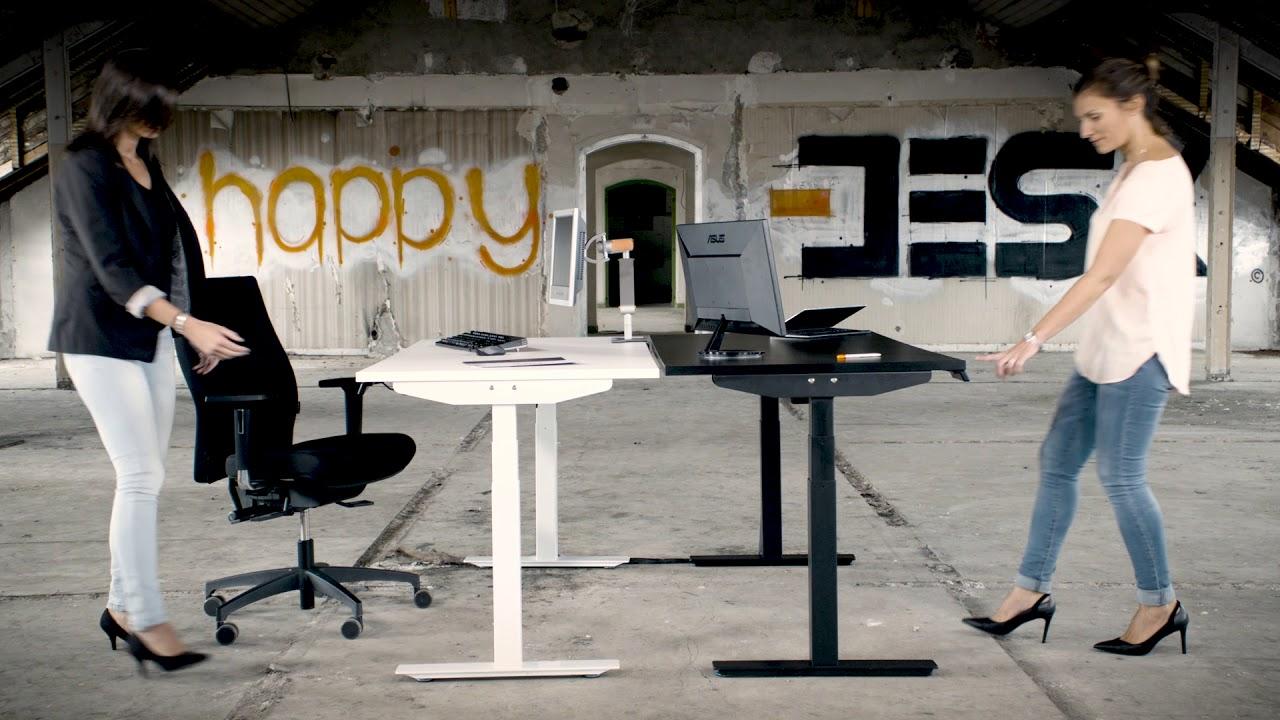 Présentation happy desk spécialiste bureau assis debout youtube