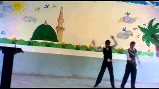FARhaN AND UMAIr DANce AT fare Well party at W.f.G.S SCH()()L HATTAR