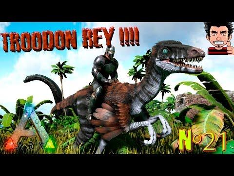 ARK Survival Evolved TROODON REY MOD ! El troodon Chetoo ! gameplay español