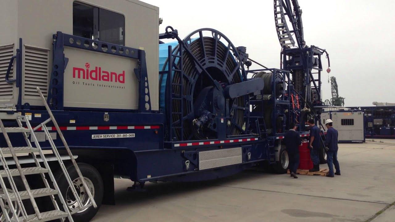 Coil Tubing Operator Odessa Tx: Midland Oil Tools International 100K Coiled Tubing Unit