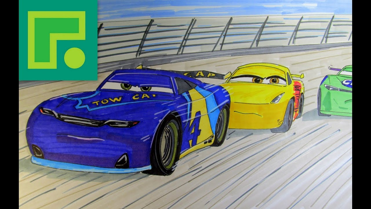 How to Draw Step by step Cars 3 Racing JD McPillar Next ...