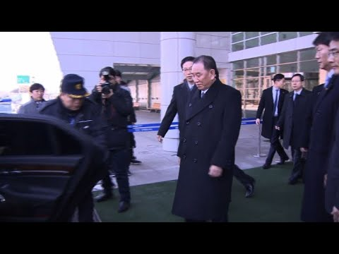 High-level N. Korean delegates arrive in the South