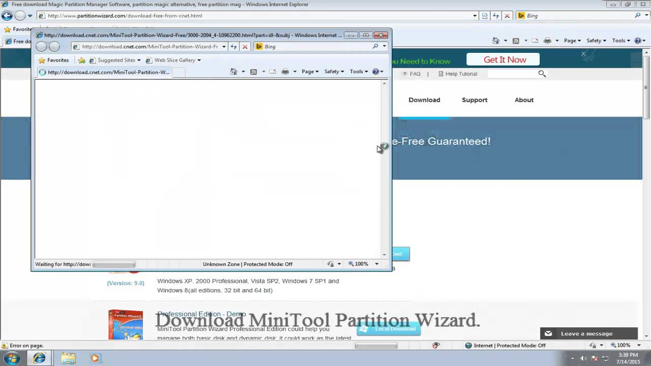 MiniTool Partition Wizard Add Non-adjacent Space to C Drive Free