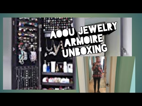 AOOU Jewelry Armoire Unboxing