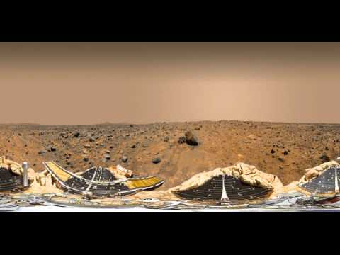 NASA's Mars Pathfinder & Sojourner Rover (360 View)