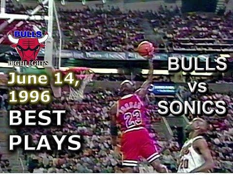 June 14 1996 Bulls vs Sonics game 5 highlights