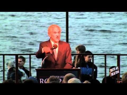 Ron Paul Speaks at UW-Madison Memorial Union Terrace 3/29/2012