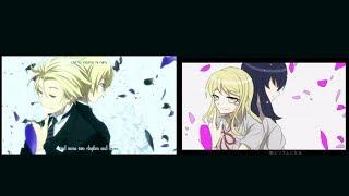 [MAD] Danganronpa x Kekkai Sensen ED Parody Side by Side Comparison