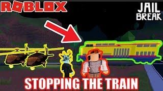 ASIMO3089 BADCC STOPPING the TRAIN in Roblox Jailbreak...