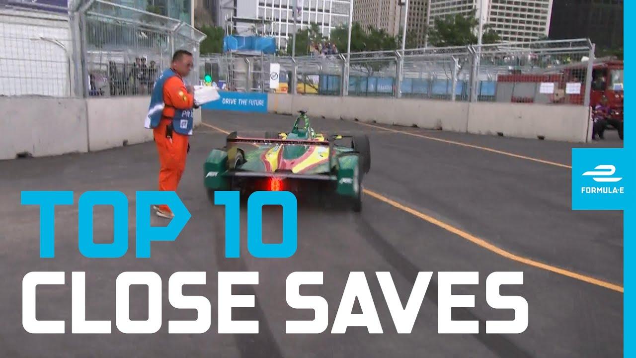 Top 10 Breathtaking Close Saves! | ABB FIA Formula E Championship