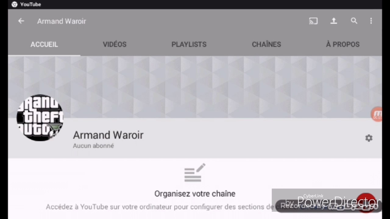 comment changer le nom de sa cha ne youtube avec android youtube. Black Bedroom Furniture Sets. Home Design Ideas