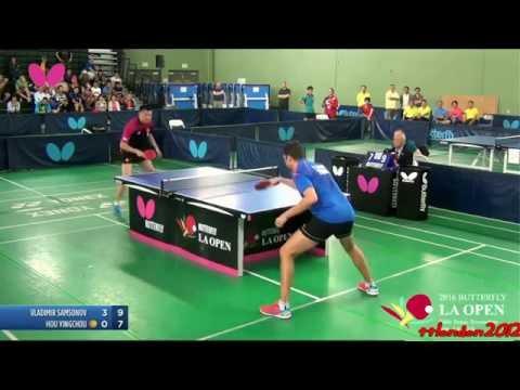 Vladimir Samsonov vs Hou Yingchao (2016 LA Open) Final
