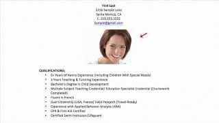 Westside Nannies Professional Childcare Resume