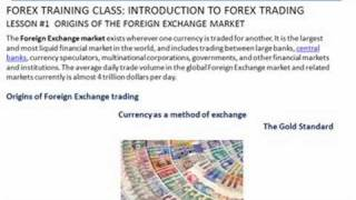 Forex Trading |Class #1 Forex Introduction | FXReturn.com