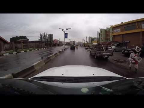 Drive through Ikeja Lagos, Nigeria
