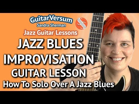 JAZZ BLUES IMPROVISATION - Guitar LESSON - Jazz Blues Solo in Bb Mp3