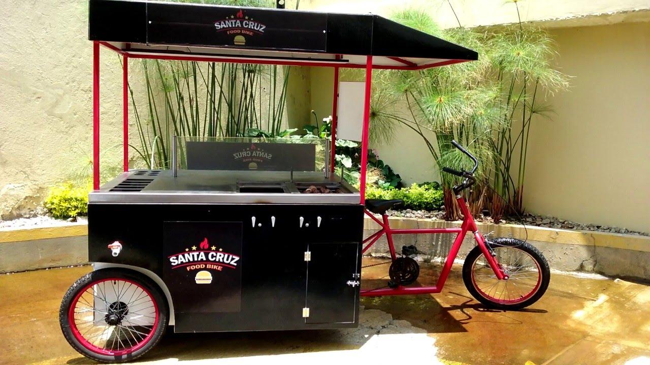 Triciclo para comidas rapidas youtube for Mesas para negocio comidas rapidas