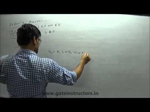 Automata Theory: Arden