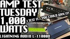 Amp Test Tuesday: Lightning Audio L-11000D Rated 1,000 watts - YOU COULD WIN IT!
