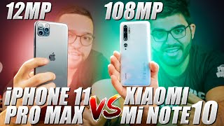XIAOMI Mi NOTE 10 (108mp) vs iPHONE 11 PRO MAX (12mp) | APPLE ficou PRA TRÁS? COMPARATIVO!