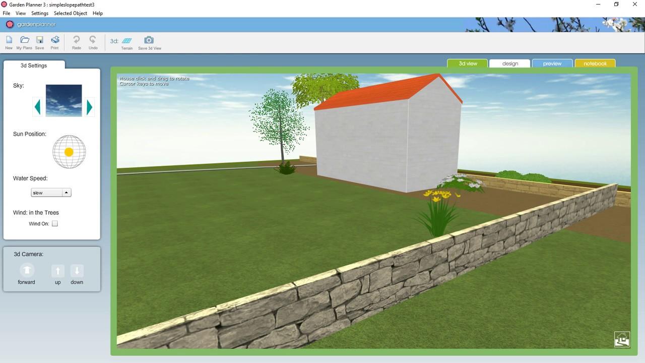 Garden Planner Adjusting Terrain In 3d View Youtube