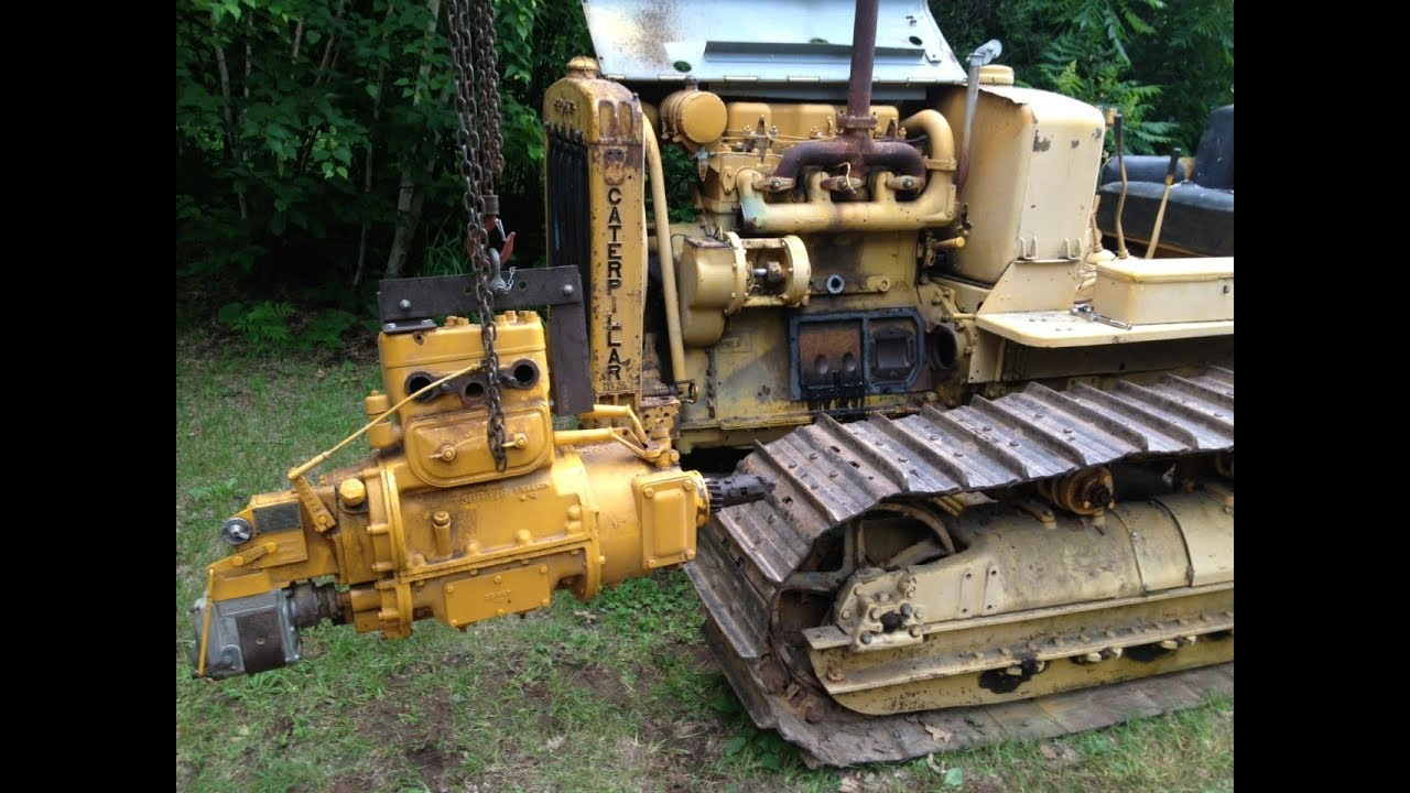 Caterpillar RD6, D6 Pony Motor Removal Step By Step Sequence