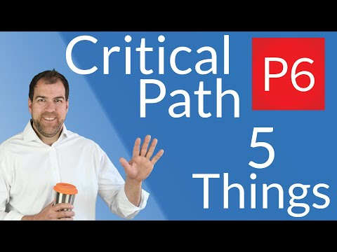 Critical Path Analysis in P6 - 5 Things I Wish I Knew Earlier