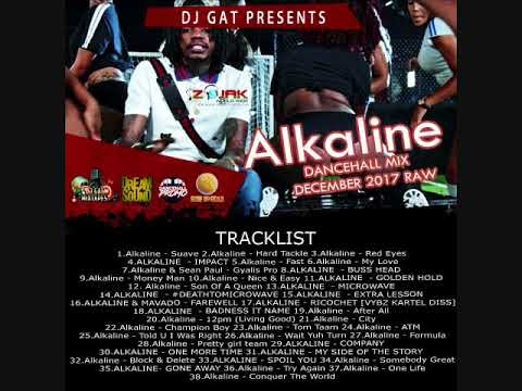ALKALINE THE VENDETTA DON DANCEHALL MIX VOL 5 2017 [RAW VERSION] DJ GAT 1876899-5643