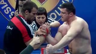 Денис Цыпленков vs Андрей Пушкарь! Денис получил по лицу! (RUSSIAN OPEN 2012)