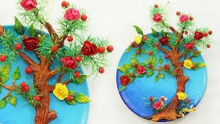 Beautiful DIY Home Decoration from Plastic Plate | Tree Decor Wall Hanging | Recycling Crafts
