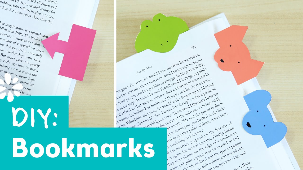 Diy Bookmarks Part - 48: Cute DIY Bookmarks | Sea Lemon - YouTube