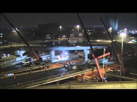 IDOT Jane Byrne Interchange Northwest Flyover Ramp Construction - Weekend 2