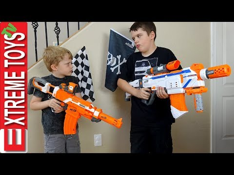 Extreme Toys Short: Capture The Flag Nerf Battle! Ethan and Cole Vs  Mom and Dad Nerf War!