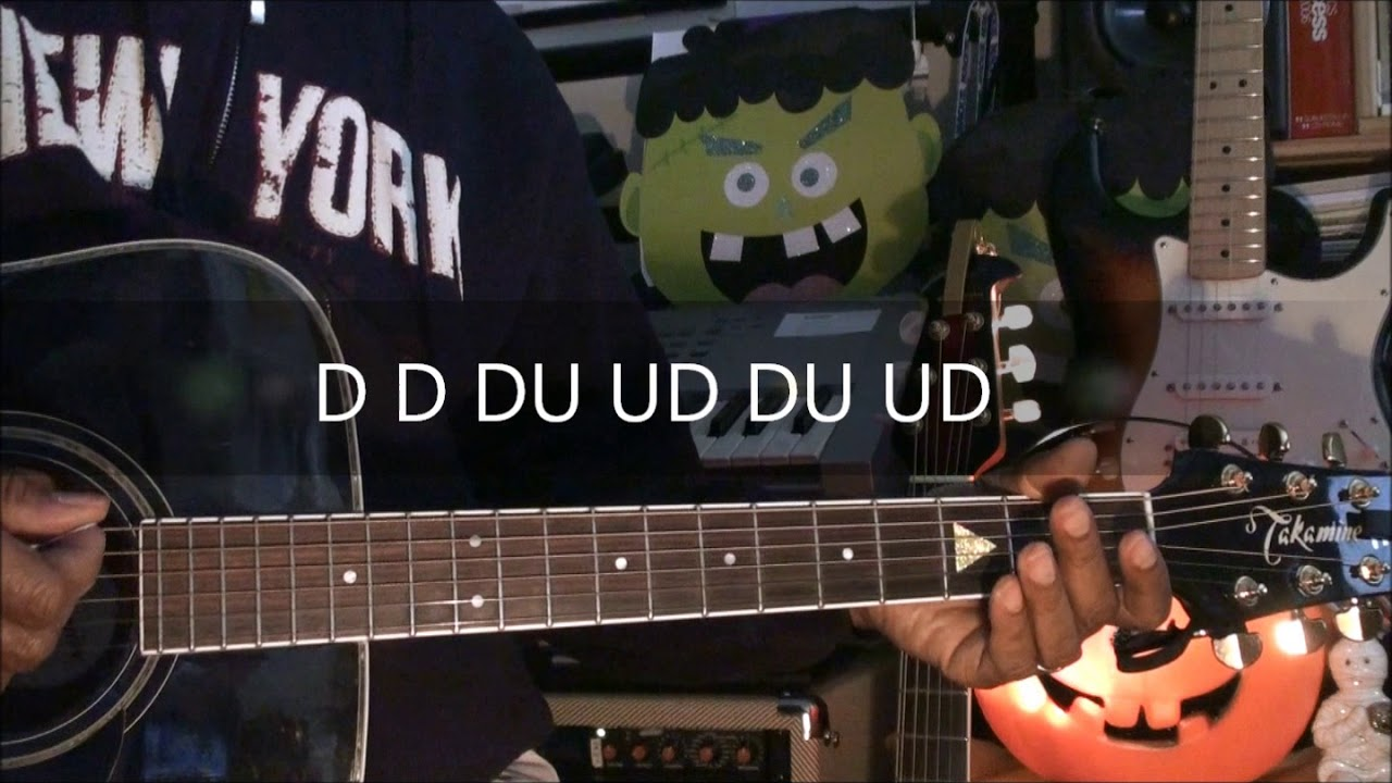 The Monster Mash Guitar Chords Strumming Pattern Tutorial 222