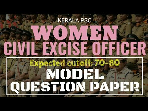 Women Civil Excise Officer Model Question Paper with Expected cutoff
