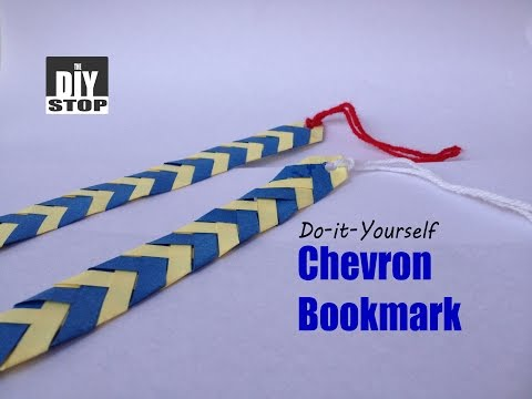 How to make a bookmark | DIY Chevron Bookmark | The DIY Stop