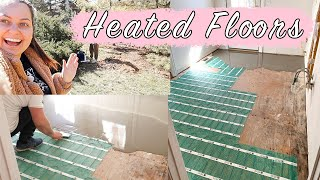 HOUSE UPDATE! Heated floors, backyard and wendys breakfast! | ELA BOBAK