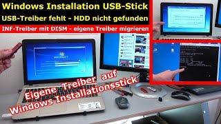 Windows bootfähiger Stick - USB3.0 Treiber einfügen | integrieren - Treiber fehlt - [4K Video]