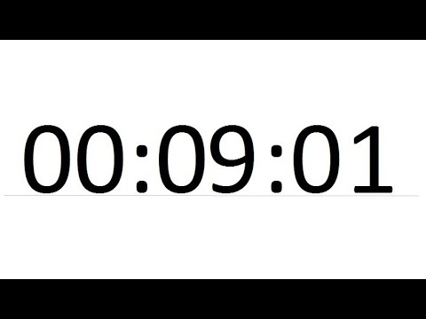 Compte a rebours 10 minutes avec alarme minuteur youtube - Minuteur 10 minutes ...