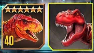 TYRANNOSAURUS REX Vs TYRANNOSAURUS REX - Jurassic World The Game Vs Jurassic Park Builder