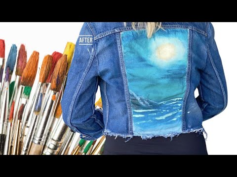 Thrift Flip: Painting on a Denim Jacket With Bob Ross
