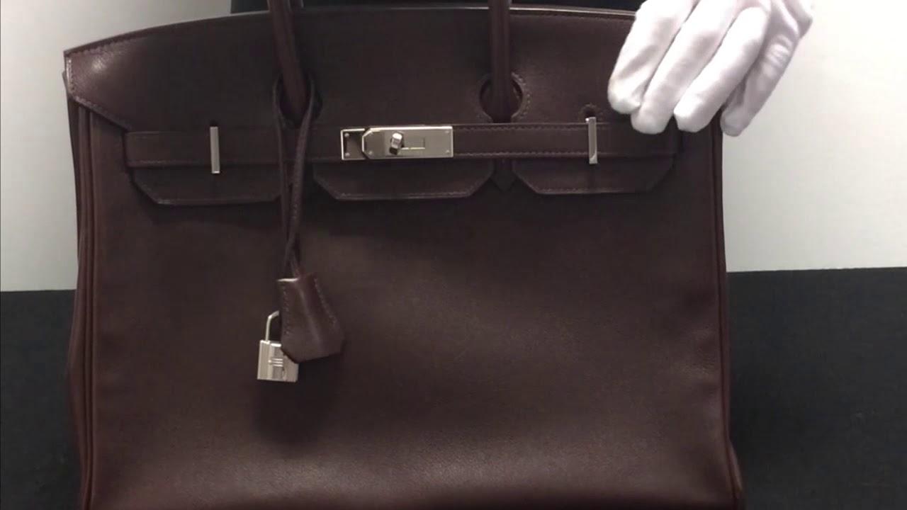 78e8cb6f6d27 A Hermès Prune Evergrain Birkin 35 Handbag - YouTube